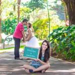 Clipe de fotos: Ensaio gestante – Roberta, Fabiano e Franciely à espera de Eduardo