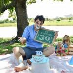 Smash the cake dos 30 aninhos do Le